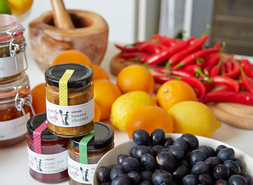 Handmade Banana Chutney from Yummy Things made with seasonal produce