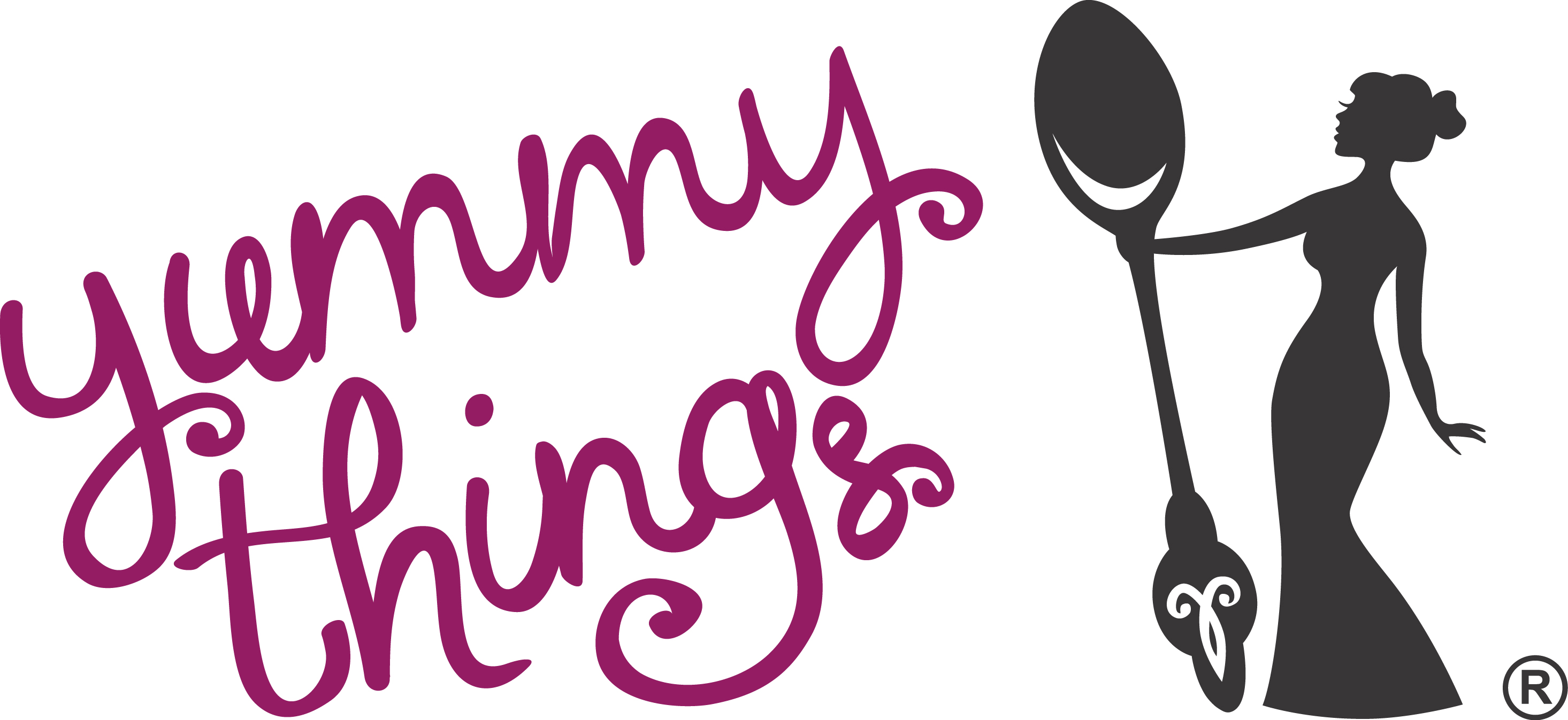 68 yummy smile logo with tongue like yummy concept