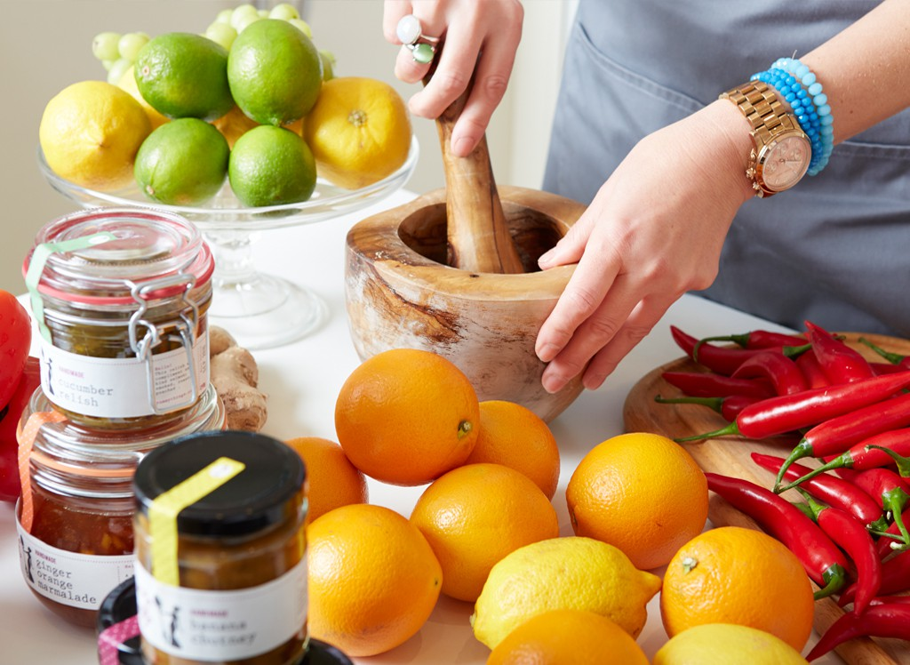 Handmade jams, marmalades and chutneys from Yummy Things - made with seasonal produce