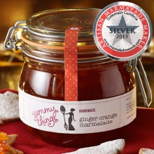 Yummy Things' delicious, handmade ginger orange marmalade la parfait jar - Made in Gosforth, Newcastle upon Tyne - The perfect foodie gift!