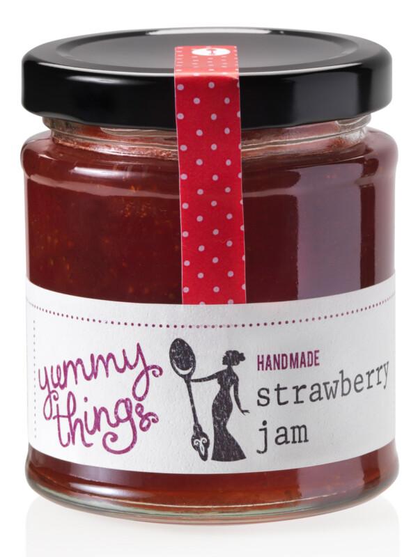 Yummy Things' delicious, seasonal handmade strawberry jam - Handmade in Gosforth, Newcastle upon Tyne - The perfect foodie gift!