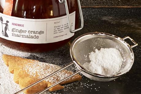 Ginger Orange Marmalade Gingerbread Stars