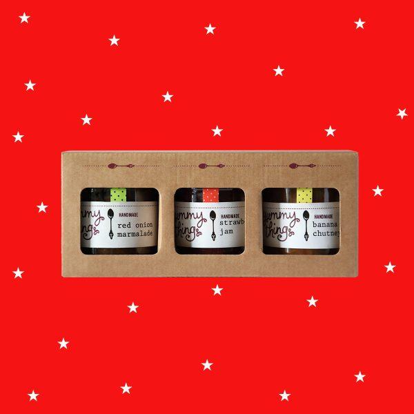 Jam and chutney Christmas gift box