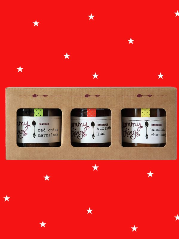 Jam and chutney Christmas gift box