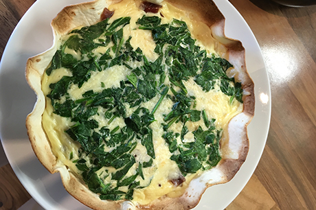 Yummy Quick Quiche with Red Onion Marmalade