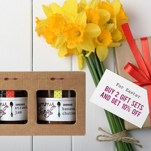 Yummy Things Easter Jam and Chutney Gift Box