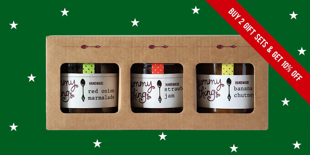 Christmas Jam and Chutney Gift Box